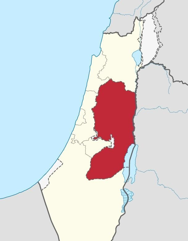 Judea-and-Samaria-map - Palestine map
