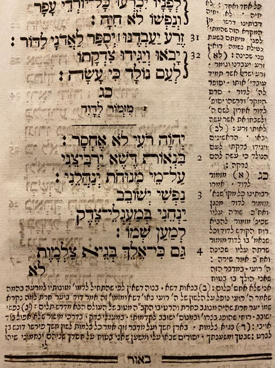Psalms Jewish holy book