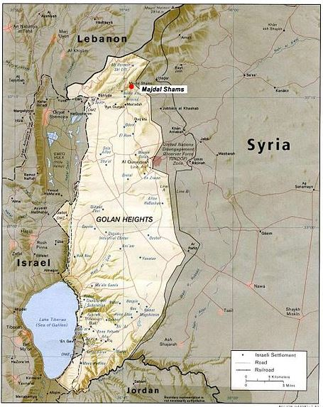 The-Golan-heights-map
