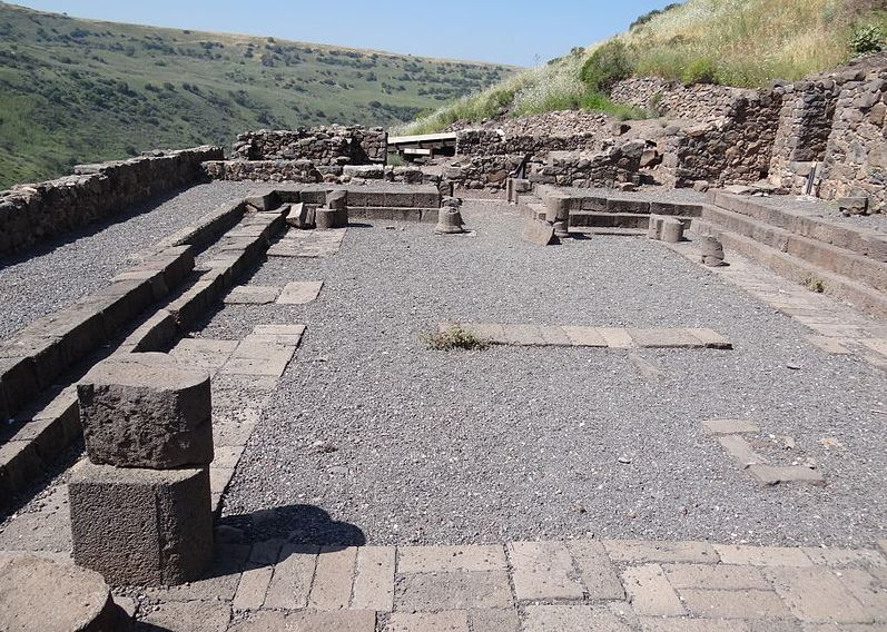 The ancient synagogue in Gamla, Golan Heights