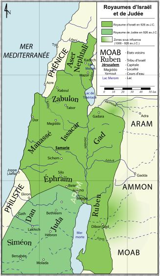 Jewish history - Judea map BC