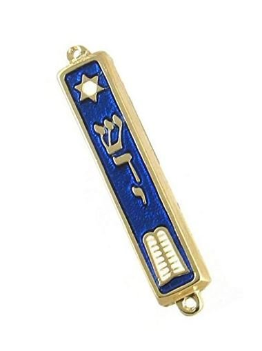 "10 Commandments Mezuzah 24k Gold Plated Jewish 2.7"" Mezuza"