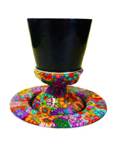 Colorful Shabbat Kiddush cup to buy online