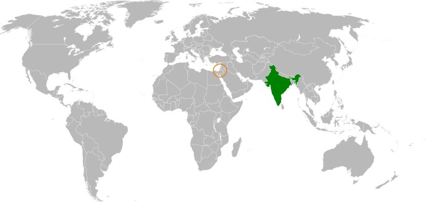 Israel vs India map size