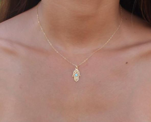 Judaica jewelry - Hamsa necklace to buy online