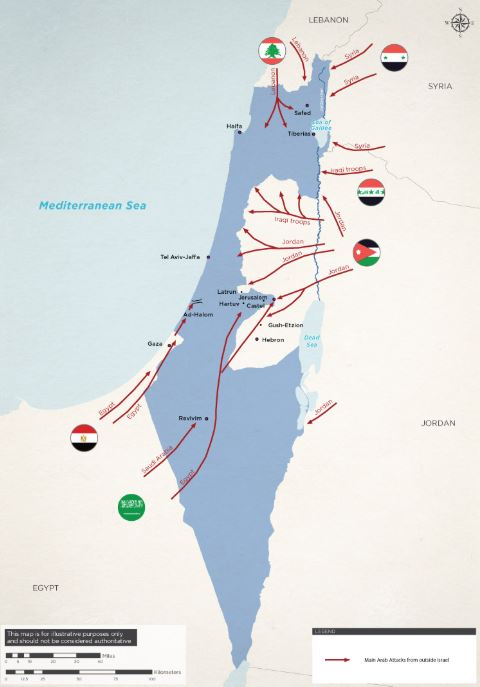 Israel Independent war map