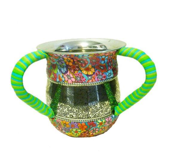 Jewish ritual hand washing cup