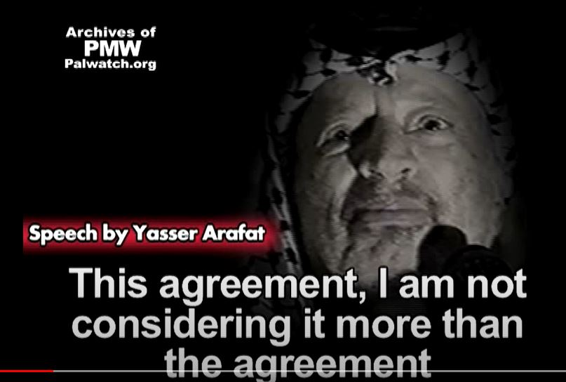Modern history of Israel - Oslo accord - Arafat speech