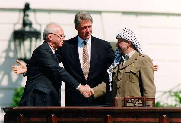 Modern history of Israel - the signing of the first Oslo records in the White House