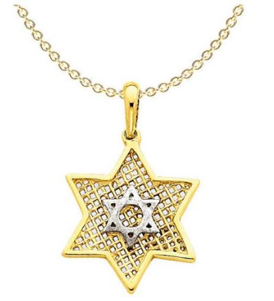 10 karat gold star of David pendant