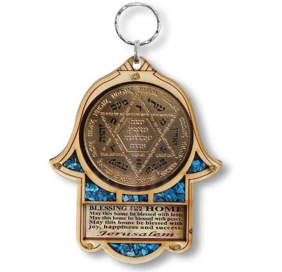 Star of David and hamsa home decor