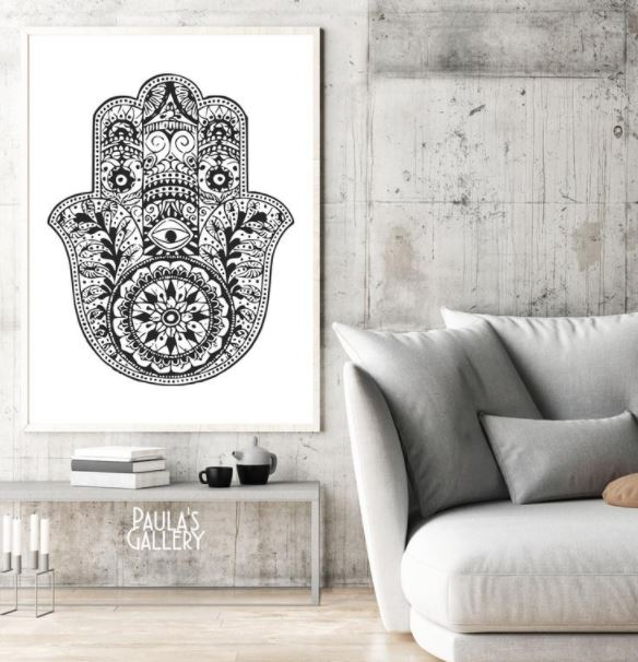 printable hamsa home decor