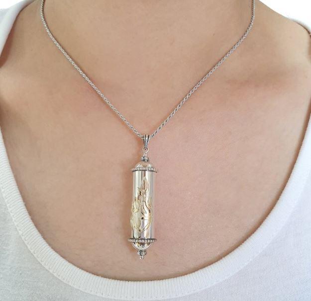 mezuzah prayer necklace
