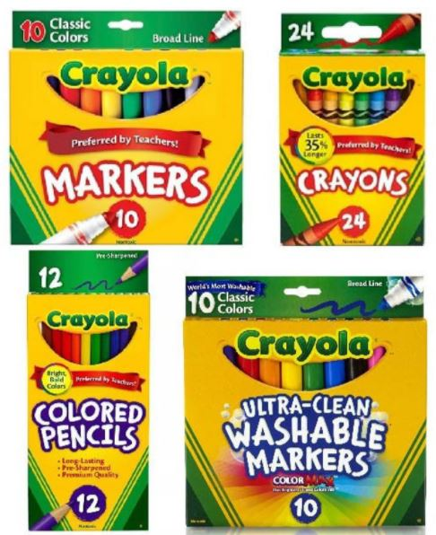 Crayola set for Bible verses coloring page