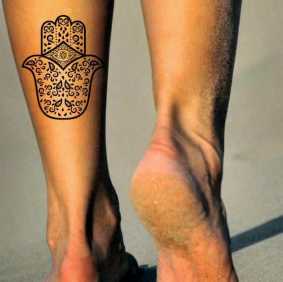 Evil eye henna tattoo