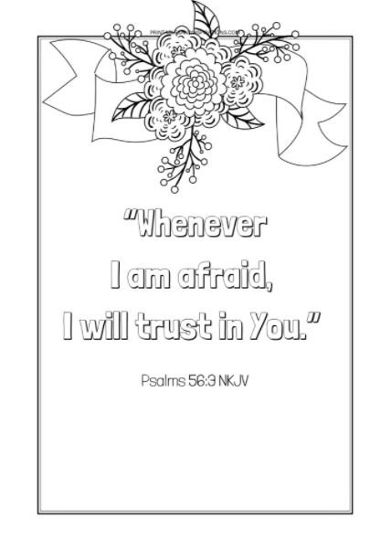 Free printable Bible verses coloring pages