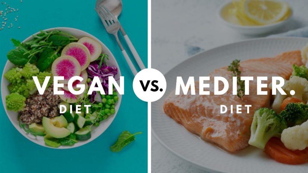 Mediterranean diet vs vegan