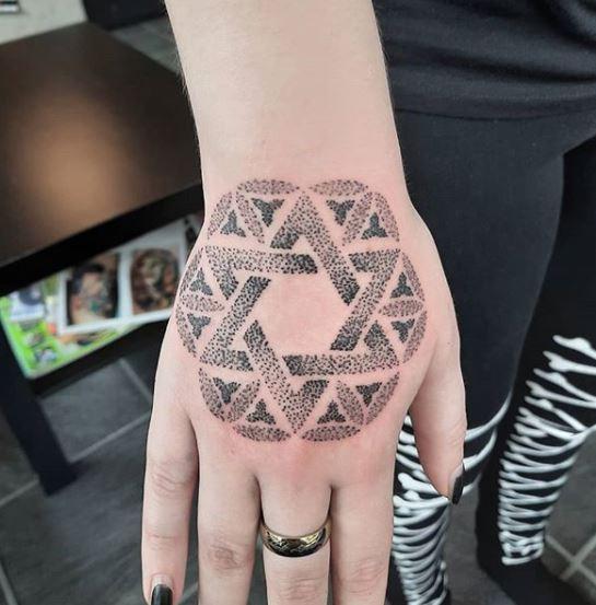 accidental star of david tattoo