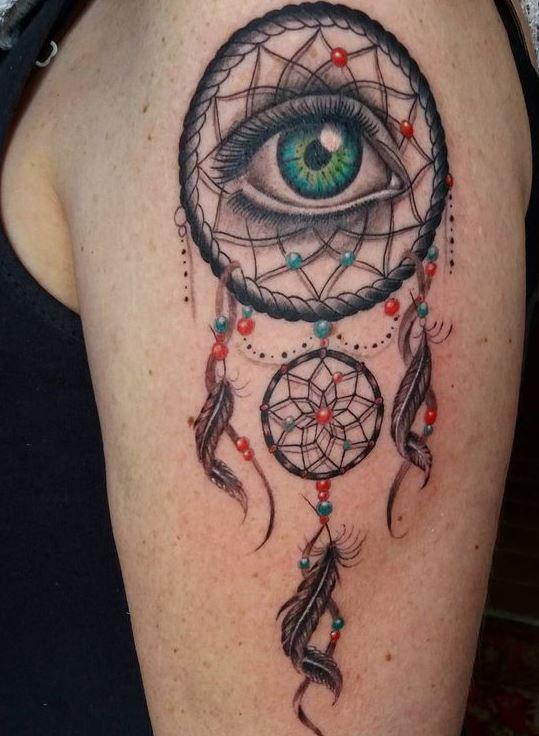 evil eye dream catcher tattoos