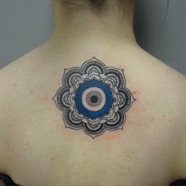 evil eye mandala tattoo