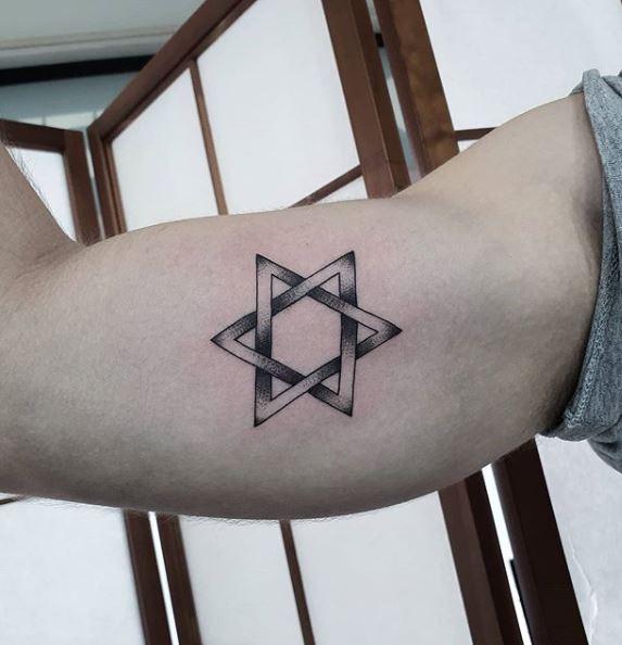 star of david arm tattoo