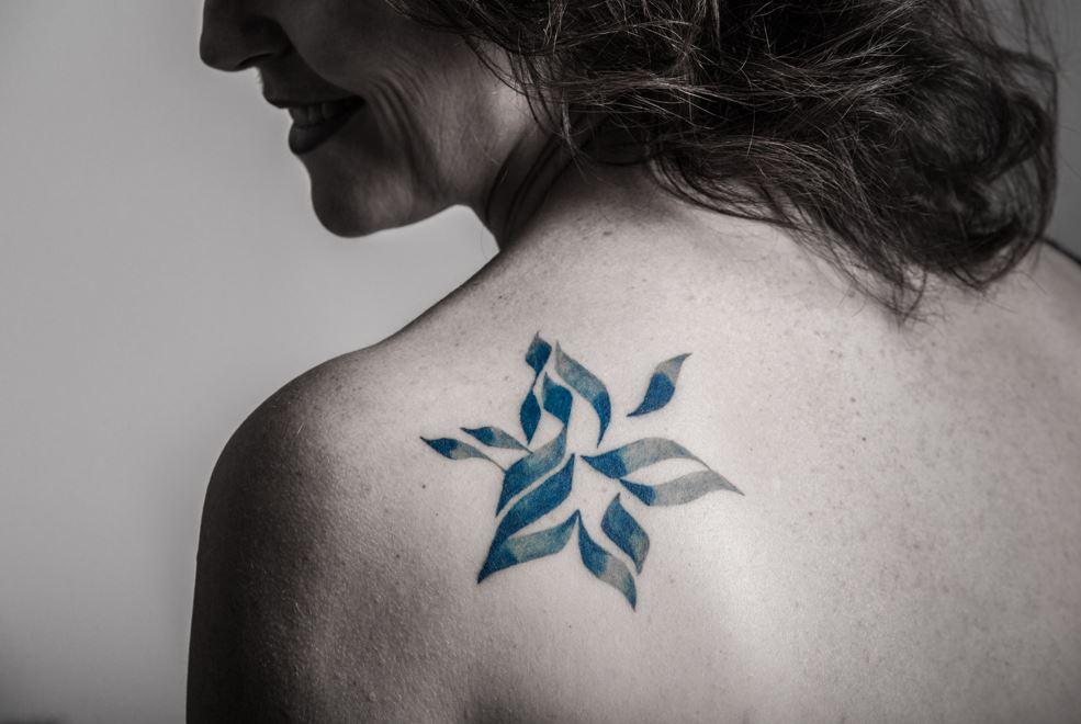 star of david tattoo small