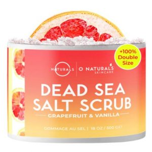 Deas sea salt for natural exfoliating skin scrub