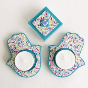 Hamsa Candle Holder for Shabbat