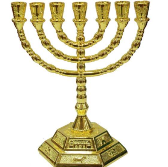 Seven branch temple menorah