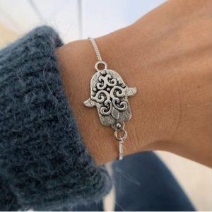 Etsy - Silver Hamsa Hand bracelet