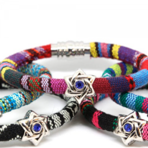 Etsy - Star of David Woven Cotton Bracelet For Him or Her
