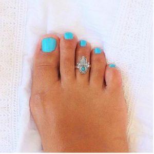 Etsy Turquoise Toe hamsa Ring