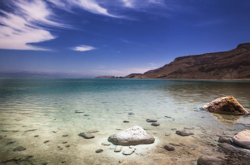 dead sea is located in which two countries