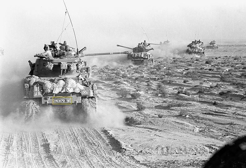 The Six Days war in Sinai Peninsula
