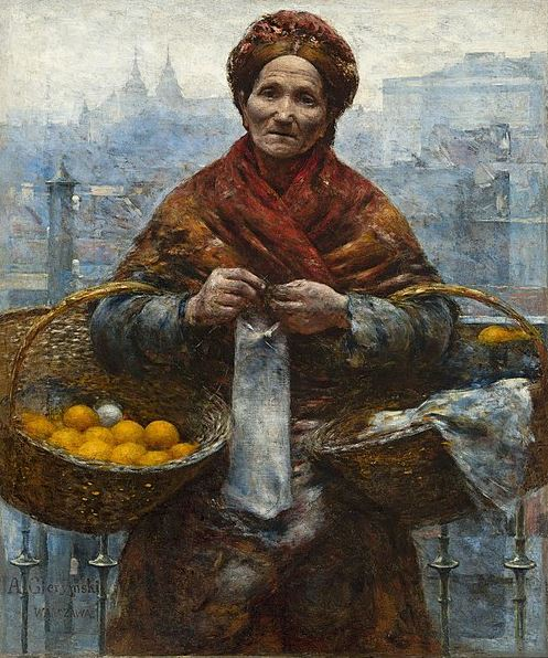 Aleksander Gierymski - Jewish woman selling oranges