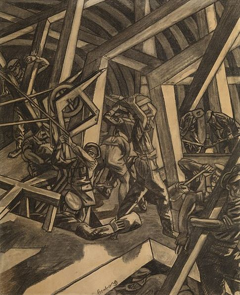 David Bomberg - Sappers at work - Canadian Tunnelling Company