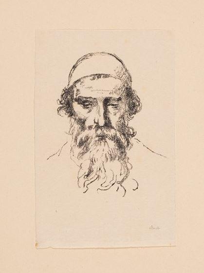 Hermann Struck - Lithograph of a rabbi