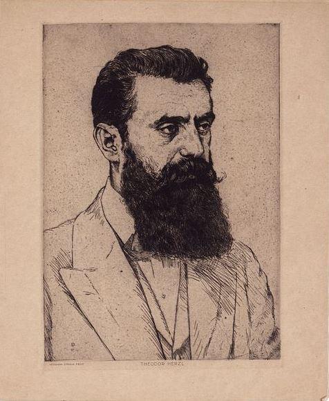 Hermann Struck - Porträt Theodor Herzl
