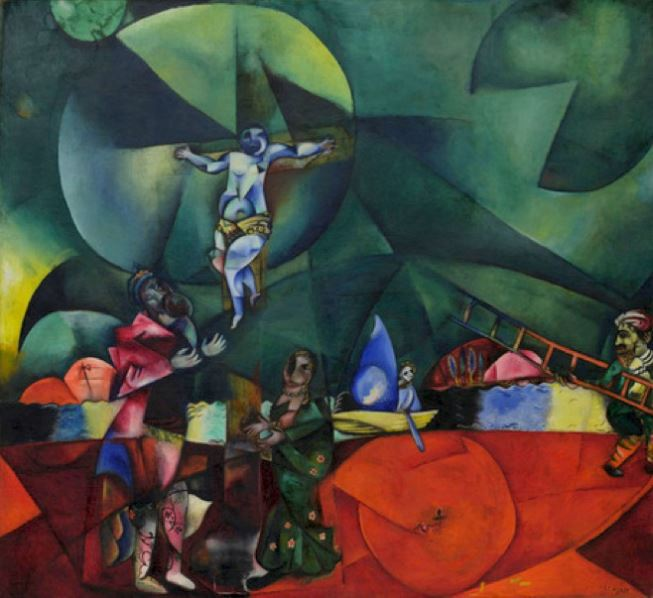Marc Chagall - 1912 Calvary Christus gewidmet - oil on canvas - Museum of Modern Art New York
