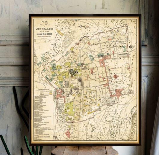 Historic map of Jerusalem
