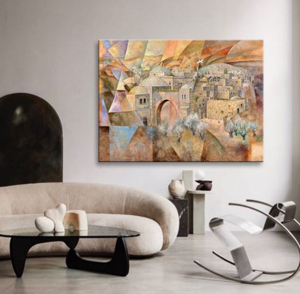 Jerusalem wall art - Judaica gift ideas