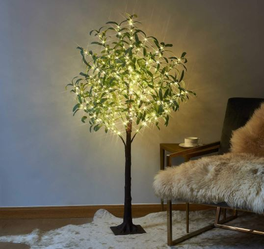 Lighted Olive Tree 4FT 160 LED Artificial Greenery with Lights