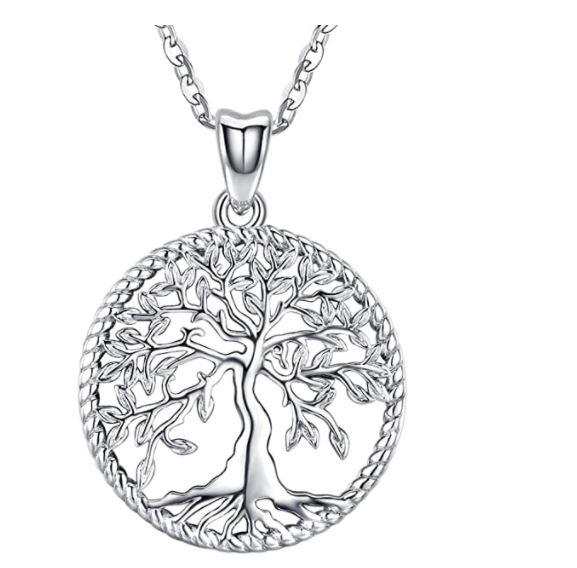 Olive tree Sterling Silver Pendant .JPG - Jewish gift ideas